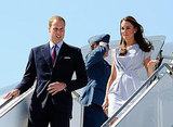 Kate Middleton and Prince William arrived at LAX.