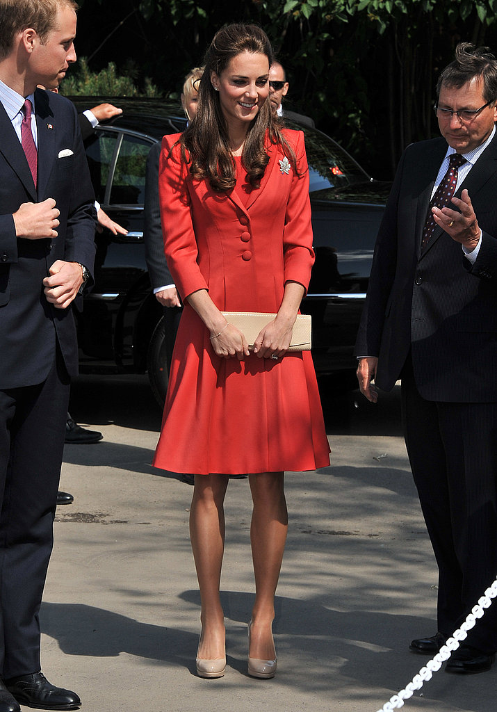 Kate Middleton wore the perfect shade of red to say farewell to Canada.