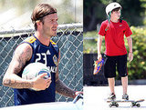 David Beckham Gets In an Extra Practice Before the Birth of His Baby Girl
