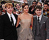 Emma Watson, Daniel Radcliffe and Rupert Grint at Deathly Hallows Part 2 Premiere