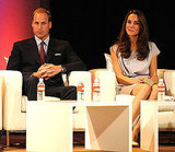 Prince William and Kate Middleton on a panel at the Variety technology conference.