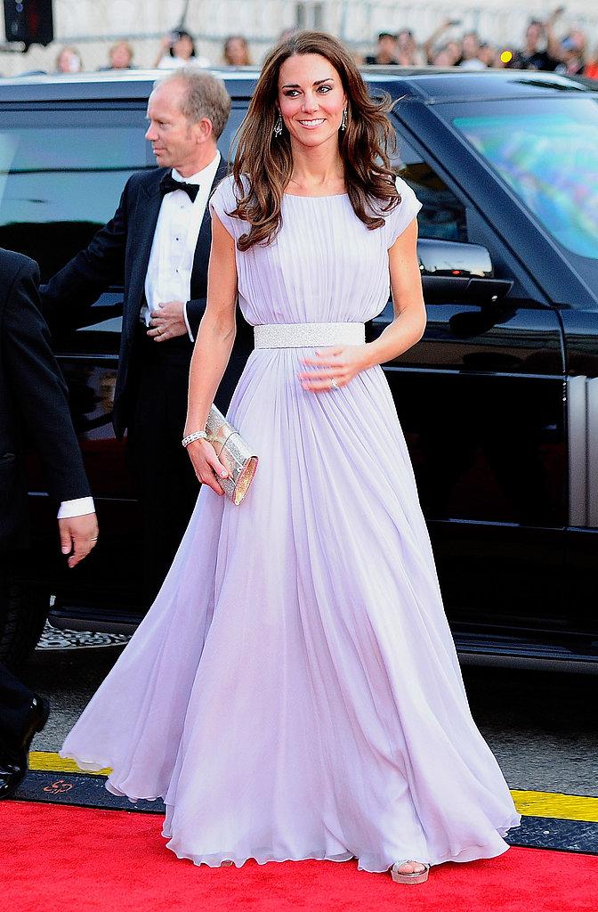 Kate Middleton in Alexander McQueen at BAFTA event in LA.