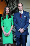 Kate Middleton and Prince William at welcome reception in LA.