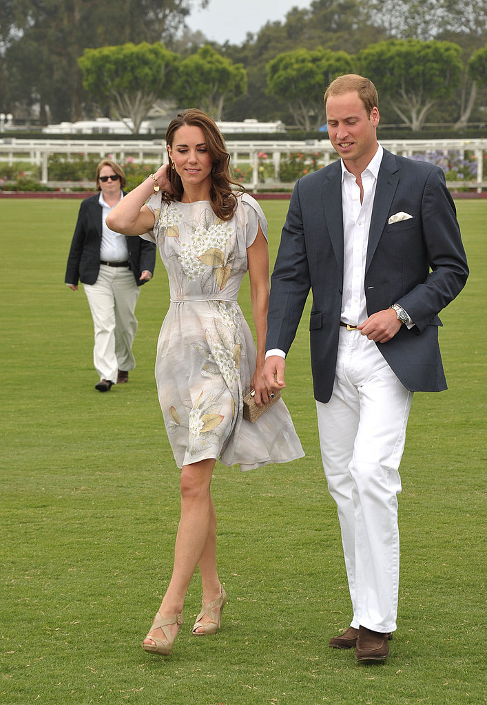 Kate Middleton and Prince William were side by side.