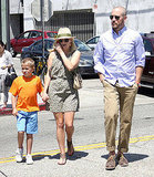 Reese Witherspoon with husband Jim Toth at lunch.