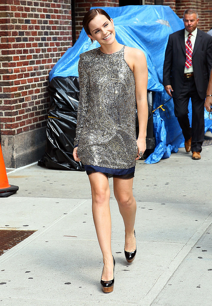 Emma Watson Sparkles For Her Date With Dave Before She Joins Us Live at Tonight's NYC Harry Potter Premiere!