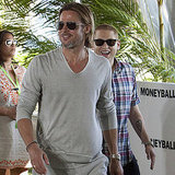 Brad Pitt and Jonah Hill in Mexico for Moneyball.