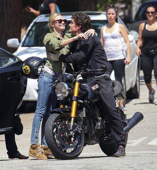 Orlando Bloom and Kate Bosworth hugging in LA.