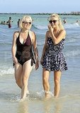 Julianne Hough with her mom at the beach.
