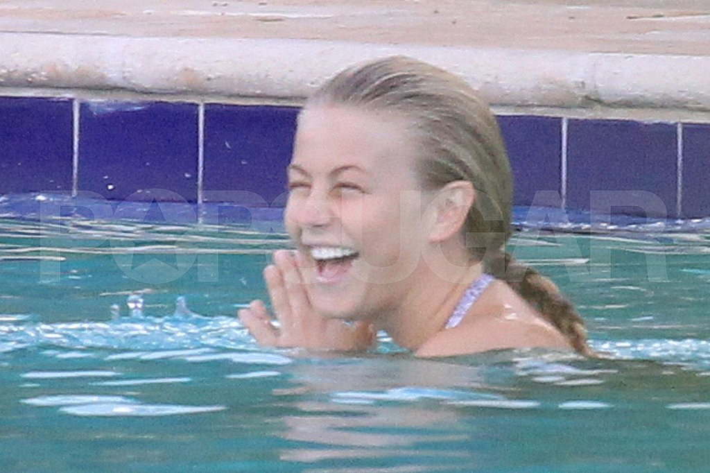 Julianne Hough laughs in the pool.