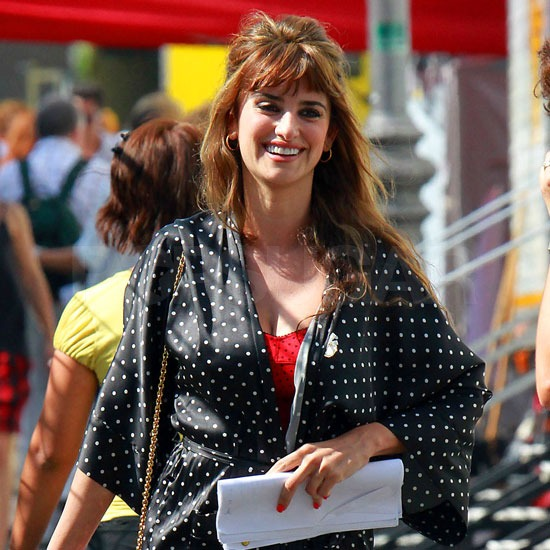 Penelope Cruz stepped onto the set holding her script.