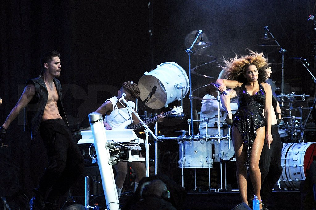 Beyoncé Knowles performs at T in the Park.