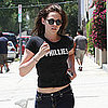 Kristen Stewart Belly Button Pictures in LA