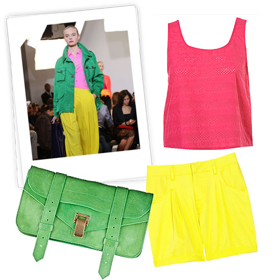 Fuchsia + Green + Pop of Citrus