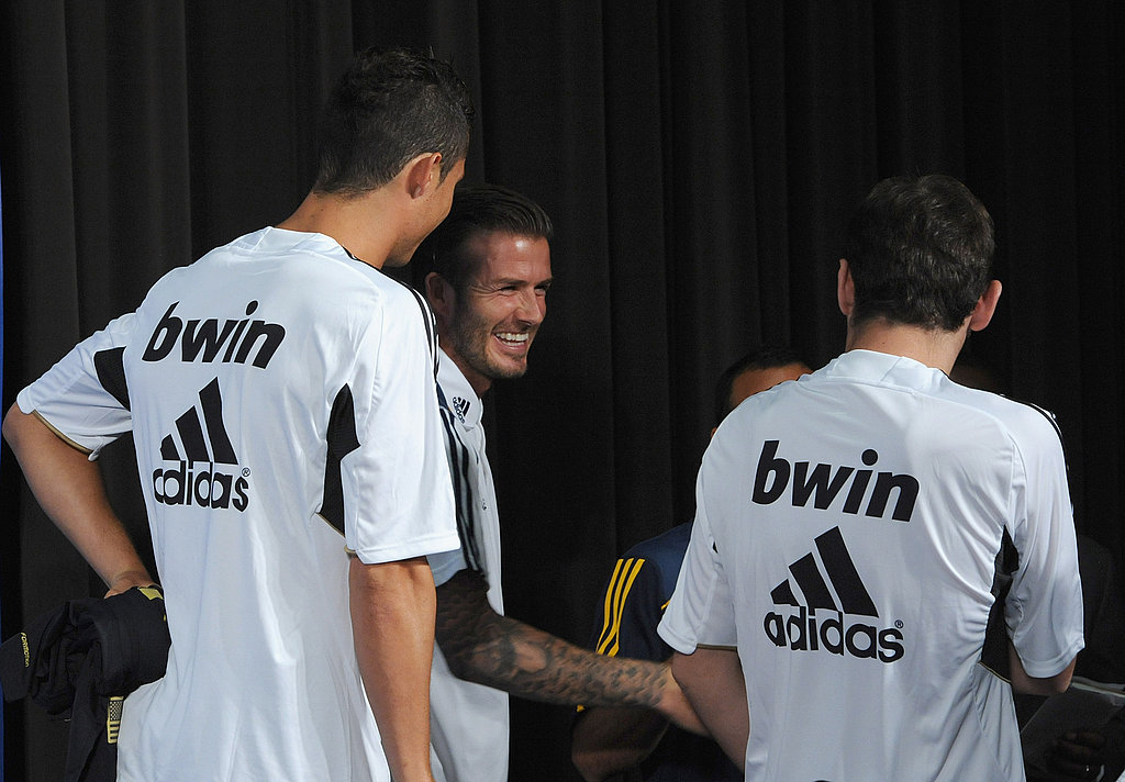 It was a friendly reunion for David Beckham and the other players.