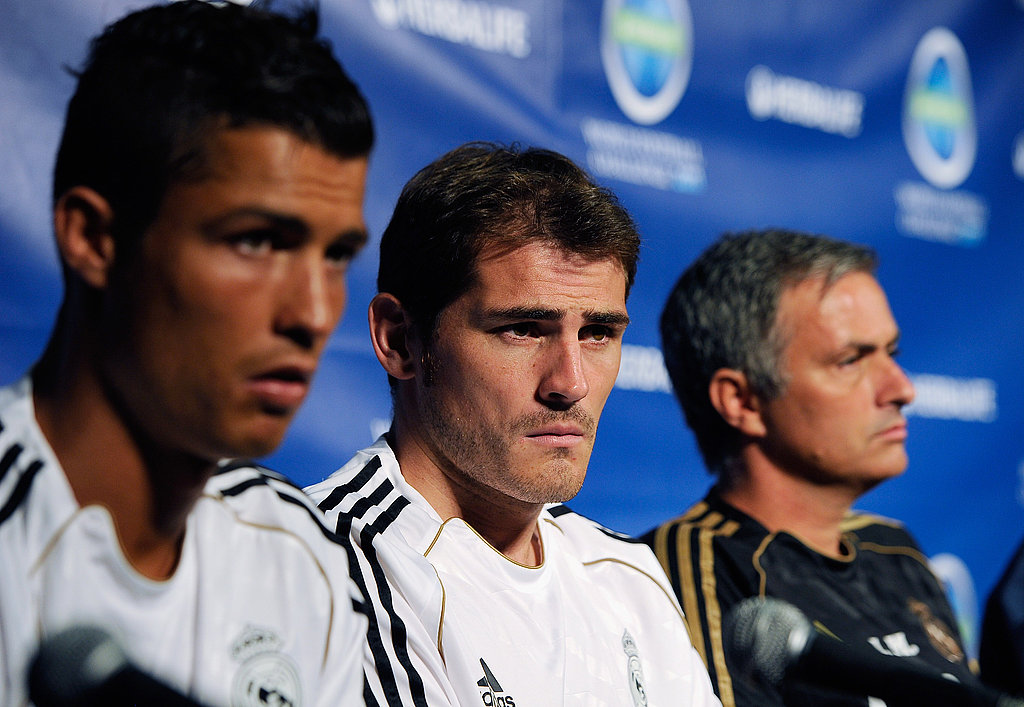 Cristiano Ronaldo and Iker Casillas chatted with the international press that gathered for the event in LA.