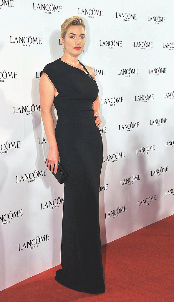Kate Winslet Picks a Dramatic Gown For Her Latest Lancôme Layover