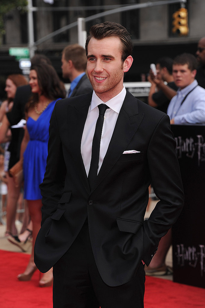 A slightly more casual Matthew Lewis suits up for the Harry Potter and the Deathly Hallows Part 2 premiere in New York.