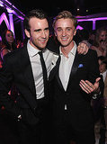 Matt Lewis and Tom Felton pose at the afterparty for the final Harry Potter film premiere.