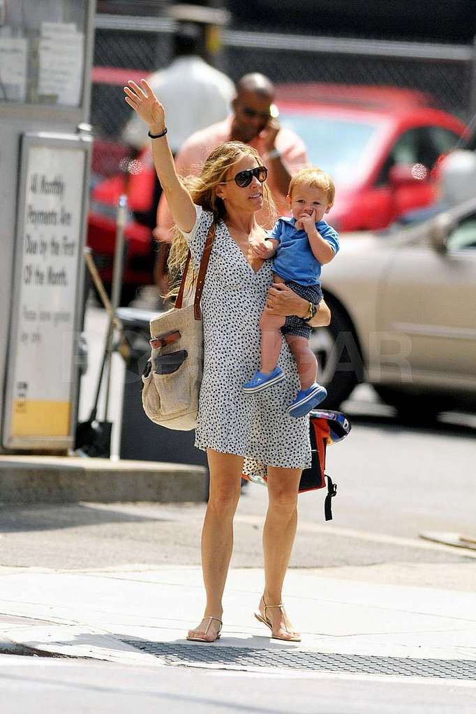 Sheryl Crow with her youngest son, Levi.