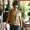 Katie Holmes Pictures Going to Lunch at Bouchon Bistro