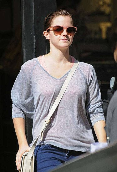 Emma Watson fit in some retail therapy in SoHo.