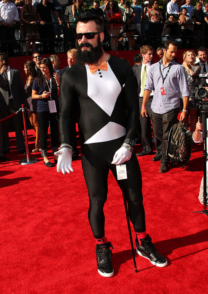 Brian Wilson opted for black and white attire.