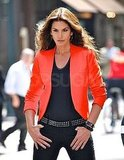 Cindy Crawford sported a Zara blazer for her photoshoot.