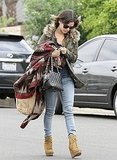 Rachel Bilson walked to her car in LA.