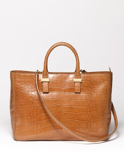 Day Luxe Alligator Tote in Caramel