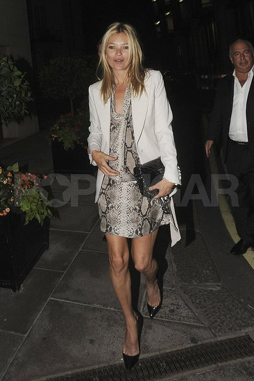 Kate Moss leaving dinner at London's Zuma.