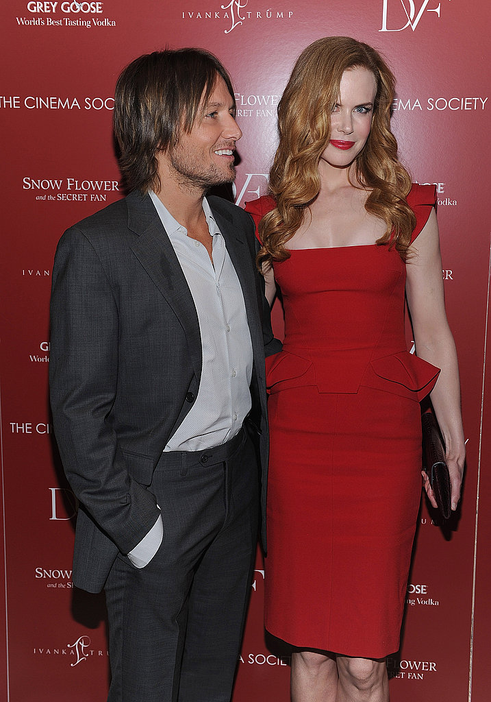 Nicole Kidman and Keith Urban hugging.