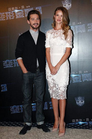 Shia LaBeouf and Rosie Huntington-Whiteley Take Transformers to China