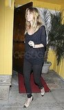 Ellen Pompeo picked a sheer shirt for her night on the town.