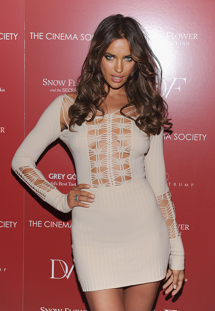 Irina Shayk at a screening of Snow Flower And The Secret Fan.