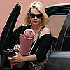 January Jones at Yoga in LA the Day of Emmy Nomination News
