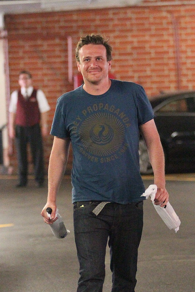 Jason Segel shopping in LA.