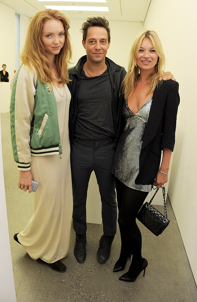 Kate Moss and Jamie Hince with Lily Cole.