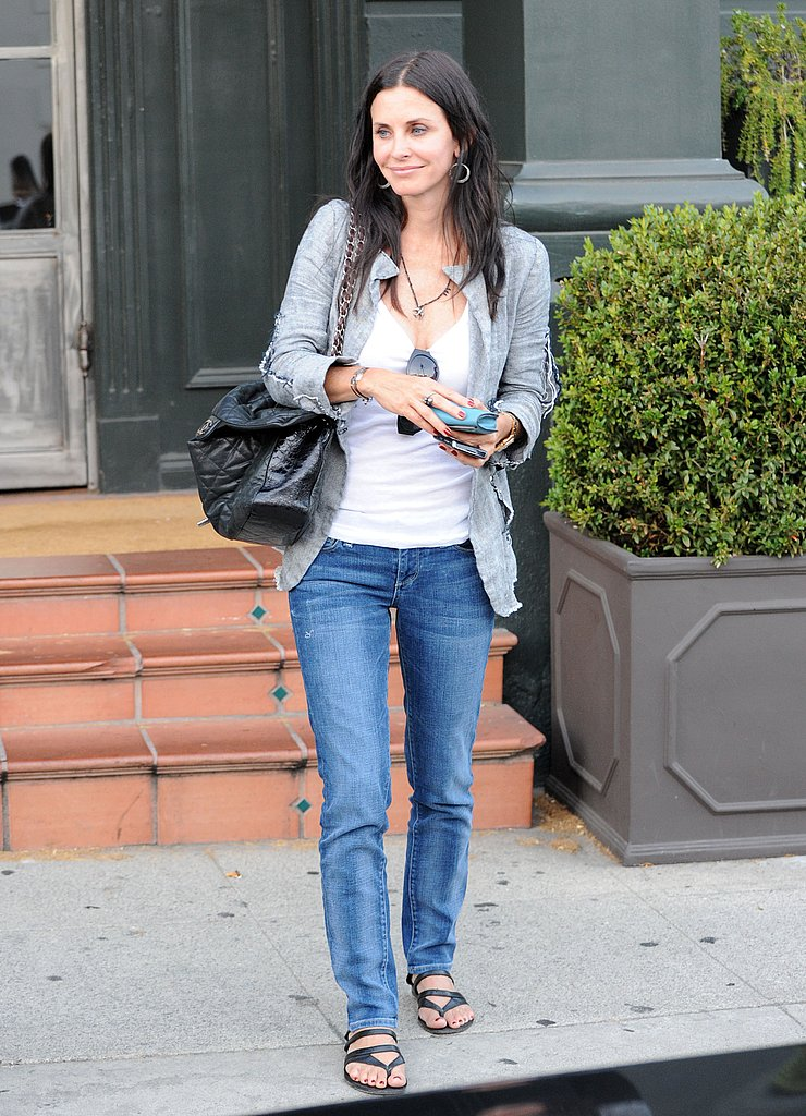 Courteney Cox is enjoying a Summer break.
