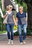 Ellen DeGeneres and Portia de Rossi shop in LA.