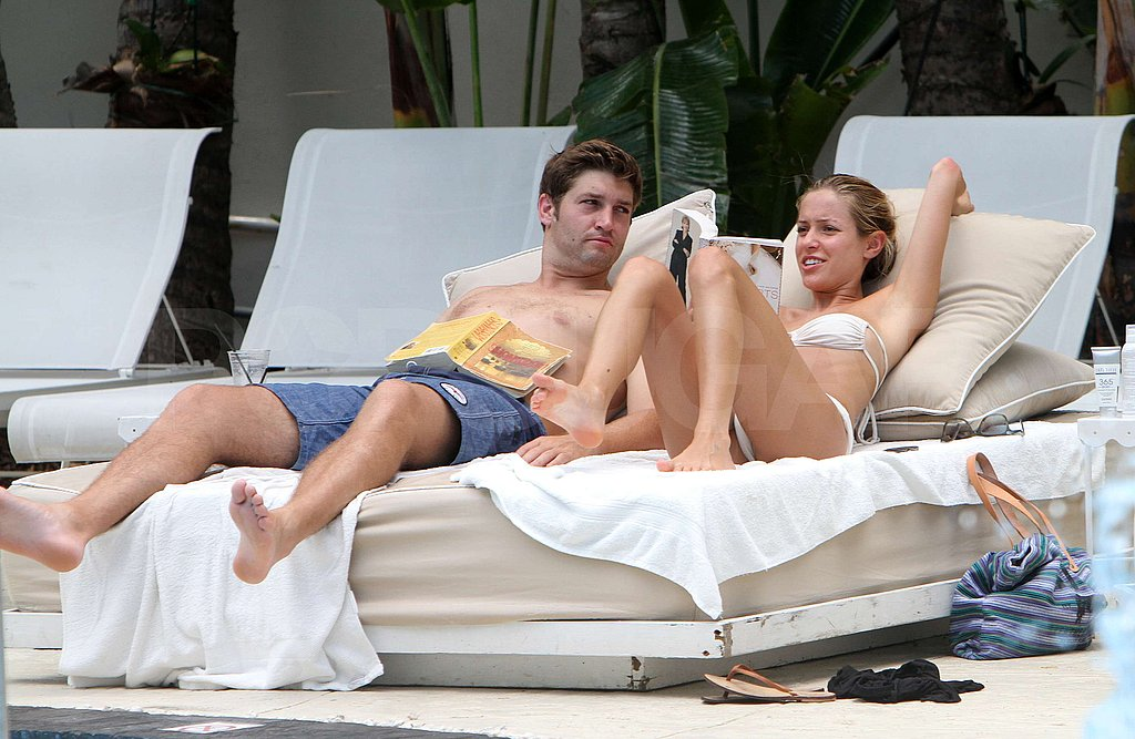 Jay Cutler and Kristin Cavallari soaked up the Miami sun.