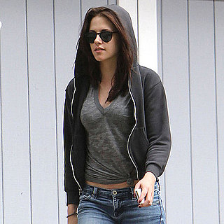 Kristen Stewart Wearing a Sweatshirt in LA