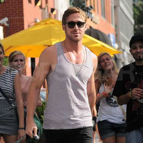 Ryan Gosling in a tank top.