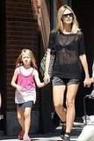Heidi Klum held hands with her daughter Leni Samuel.