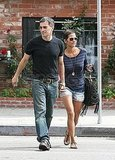 Halle Berry and Olivier Martinez held hands leaving lunch at The Little Door.