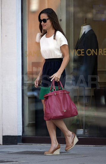 Pippa Middleton in a Zara dress.