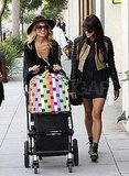 Rachel Zoe flashed a smile as she pushed Skyler Berman's stroller.