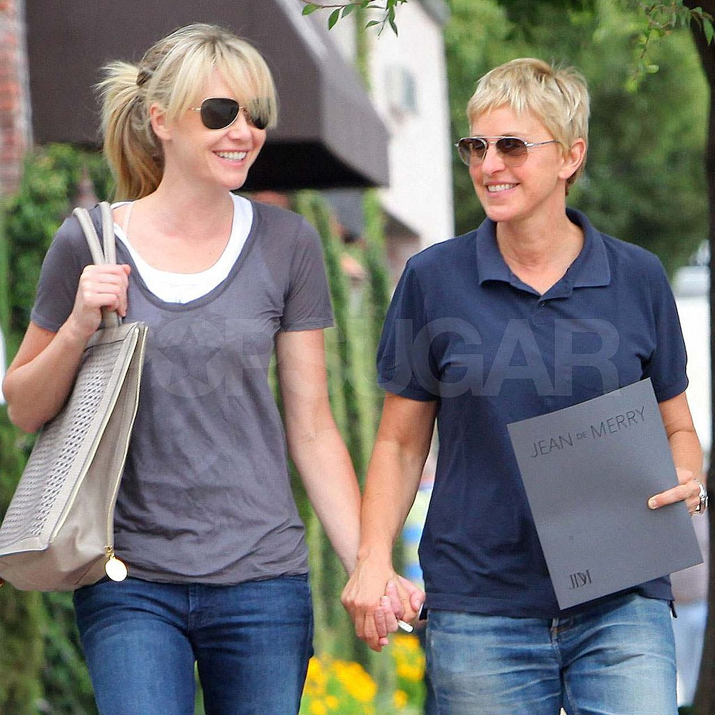 Ellen DeGeneres and Portia de Rossi hold hands in LA.