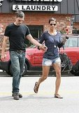 Halle Berry grabbed Oliver Martinez's hand crossing the street.
