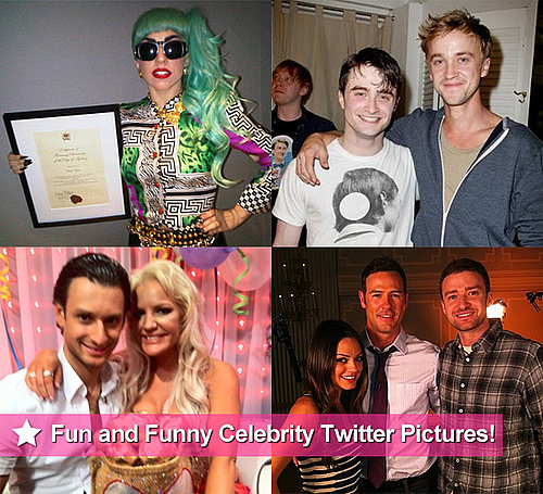 Fun and Funny Celebrity Twitter Pictures of Brynne Edelsten, Tom Felton, Mila Kunis and More